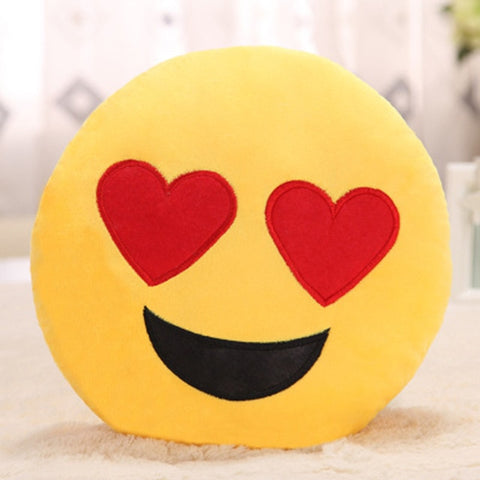 Image of Heart Eyes Emoji Pillow Cover