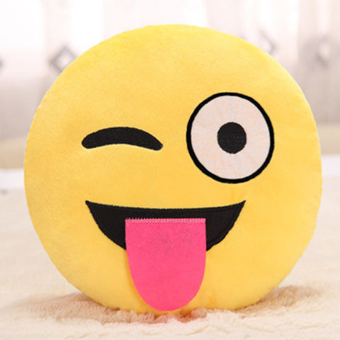 Funny expressions Emoji Pillow Cover