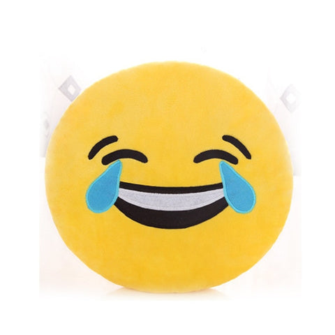 Image of Laughing Emoji Pillow Cover