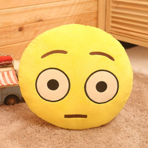 Shocking Face Emoji Pillow Cover