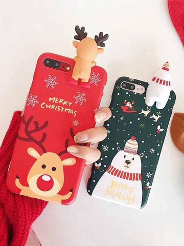 Image of Christmas Snowman Sparkling Phone Case
