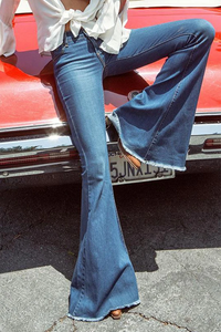 WanaDress Elastic Bell-bottoms Jeans