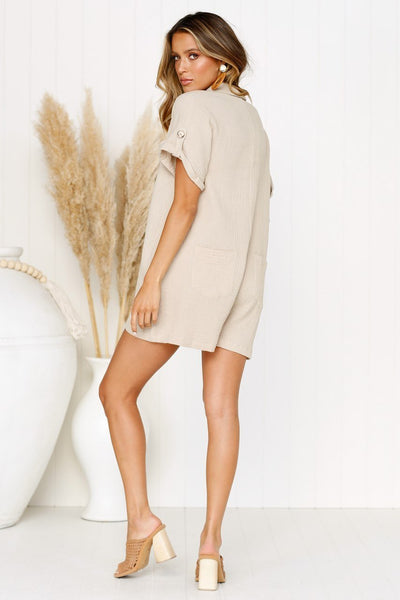 WanaDress Summer Buttons Loose Button Romper