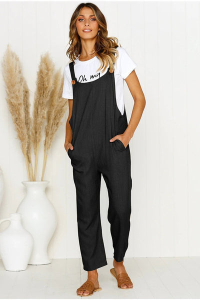 WanaDress Simple Life Solid Jumpsuits