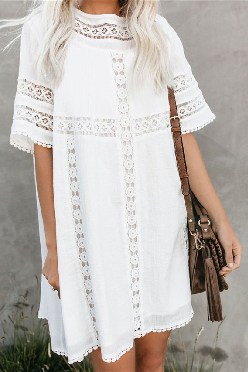 WanaDress Wrinkled Patchwork Loose Beach Cover Ups