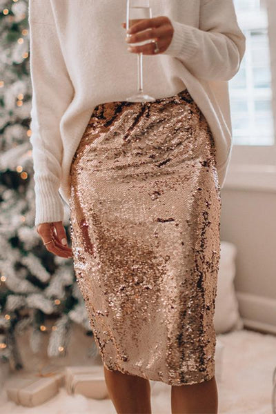 WanaDress Sequin Christmas Party Midi Skirt