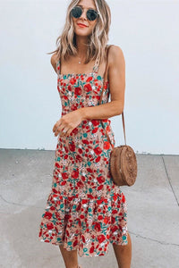WanaDress Holiday Floral Suspender Long Dress