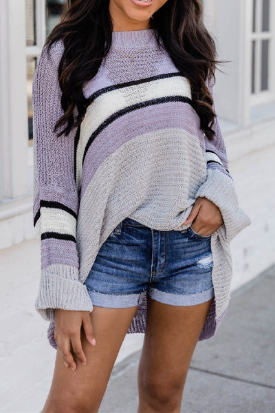 Wnadress Like A Dream Colorblock Sweater