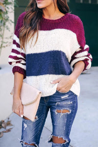 Wnadress Dozed Off Striped Knit Sweater