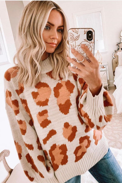 Wnadress Leopard Sweatshirt Sweater