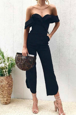 WanaDress Cosmo Black Jumpsuits