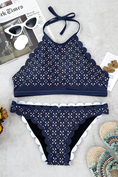 Wanadress Non Positioning Printing Two-piece Swimwears