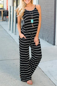 WanaDress Spaghetti Strap Striped Jumpsuit