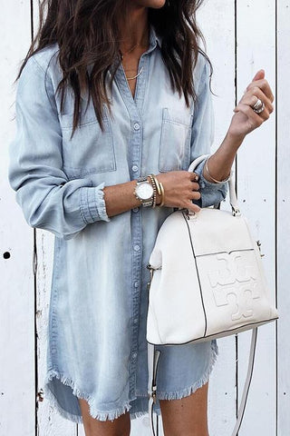 WanaDress Cowboy On The Run Denim Shirt Dress