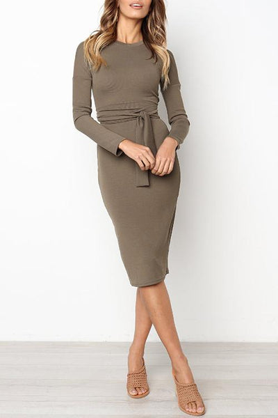 WanaDress Trendy Lace-up Slim Dress