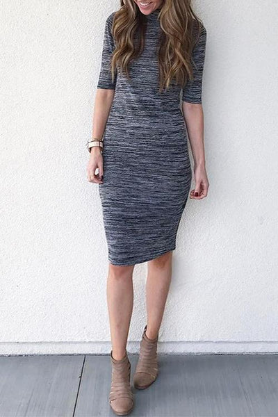 WanaDress Casual Slim Mid Calf Dress