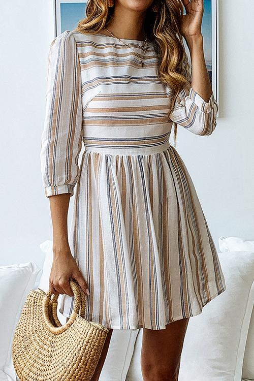 WanaDress Trendy Striped Mini Dress