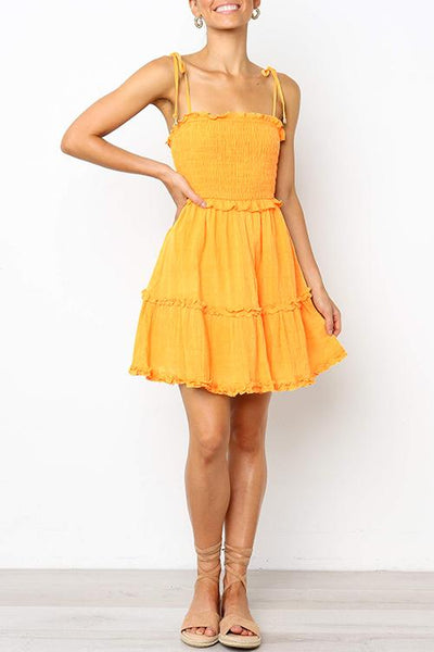 WanaDress Ruffle Design Mini Dress
