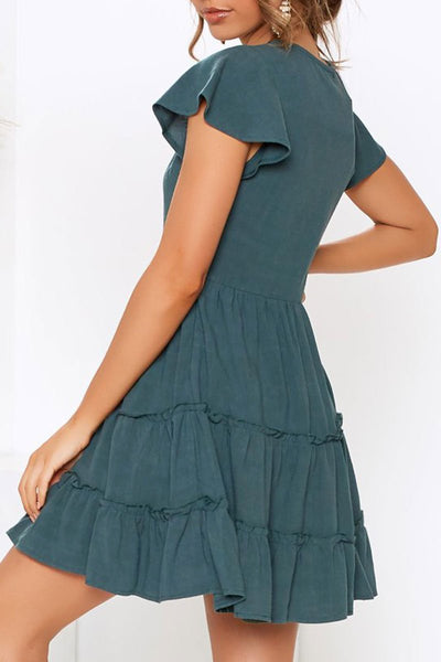 WanaDress Pleated Design Mini Dress