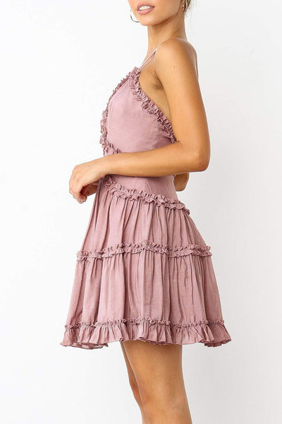 WanaDress Frill Backless Mini Dress