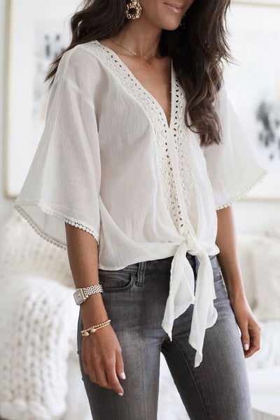 WanaDress Knot And Tassel Design Shirts