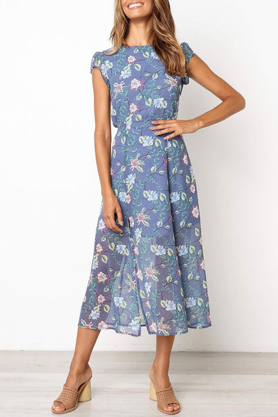 WanaDress Floral Printed A Line Dress
