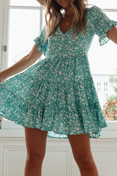 WanaDress Floral Printed Mini A Line Dress