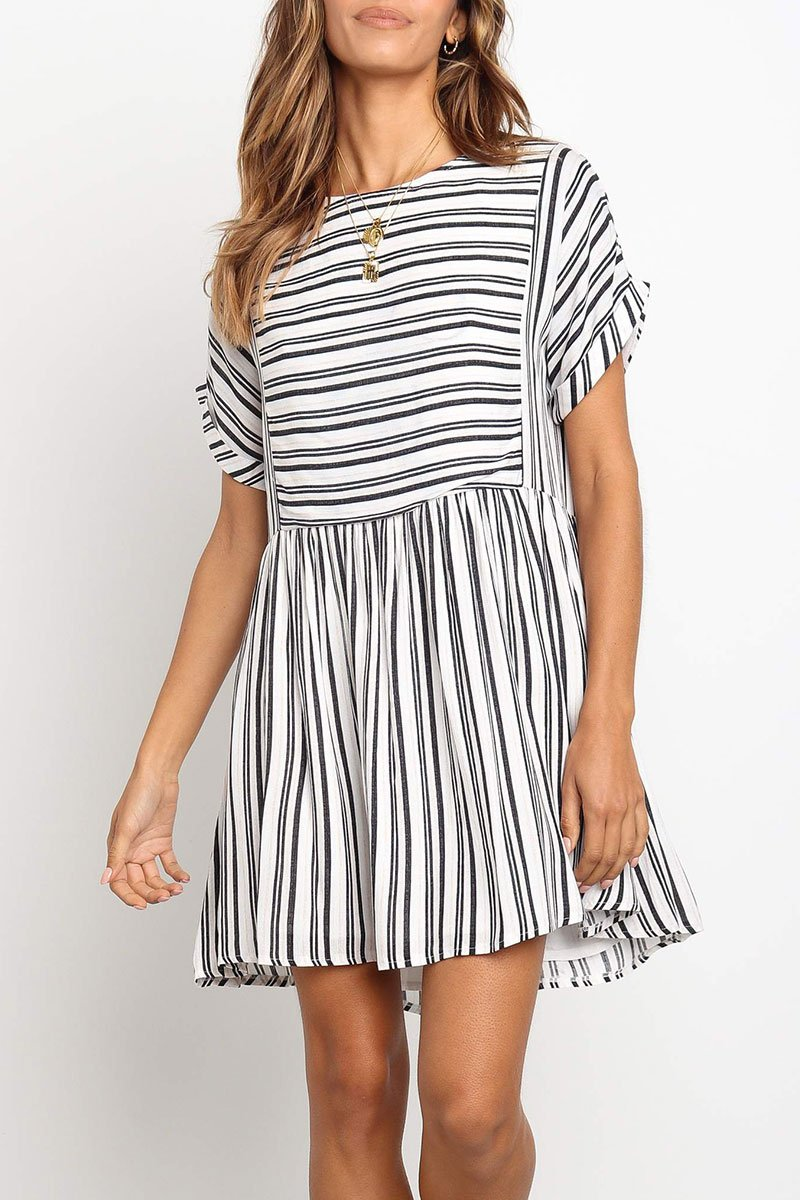 WanaDress White Striped Mini Dress