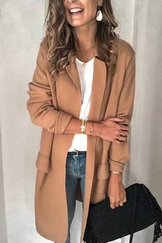 Wnadress Long Sleeve Lapel Pockets Blazers