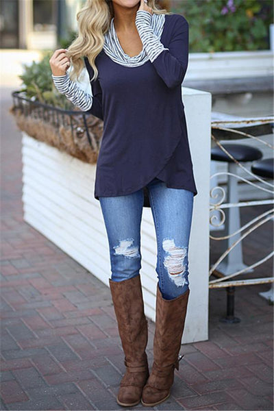 WanaDress Casual Color Block Sweatshirt