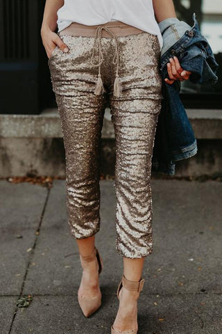 WanaDress Sequin Joggers Marl Girls
