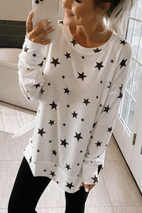 Wnadress Star Print Sweatshirt