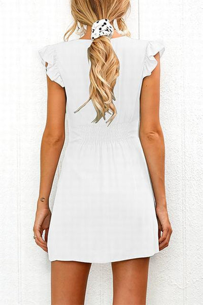 WanaDress Ruffle Sleeve Shift Dress