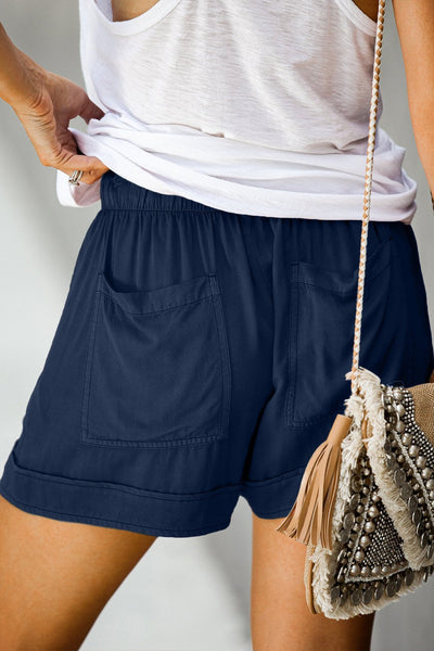 WanaDress Sage Strive Pocketed Tencel Casual Shorts