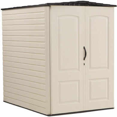 Rubbermaid Storage Shed 5x2 Feet, Sandalwood/Onyx Roof (FG5L1000SDONX), Sandstone