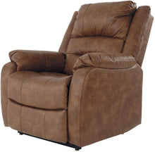 Load image into Gallery viewer, Signature Design by Ashley Yandel Upholstered Power Lift Recliner for Elderly, Brown