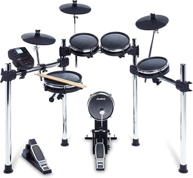 Alesis Surge Mesh Kit, Eight-Piece Electronic Drum Kit with Mesh Heads, 40 Kits, 385 Sounds, 60 Play-Along Tracks, USB/MIDI Connectivity
