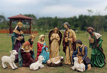 Load image into Gallery viewer, Santa's Workshop 97000 12 Piece Outdoor Nativity Set, Multicolored