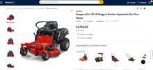 Load image into Gallery viewer, Snapper 42 in. 20 HP Briggs & Stratton Hydrostatic Zero Turn Mower - BRAND NEW!!!