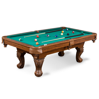EastPoint Sports Masterton Billiard Pool Table - Green - 87 Inch - Features Durable Material with Built-In Leg Levelers