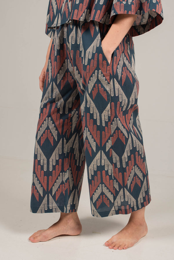 Kai Flare Pants in Facade Navy