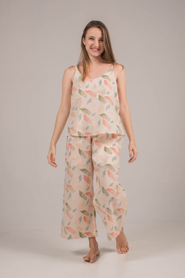 Kai Flare Pants in Spiral Blush