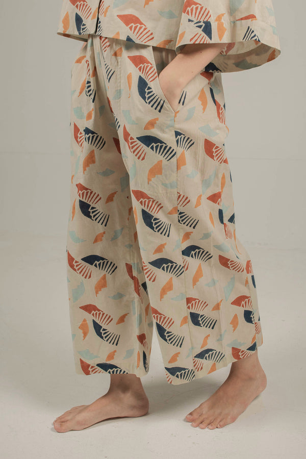 Kai Flare Pants in Spiral Sky