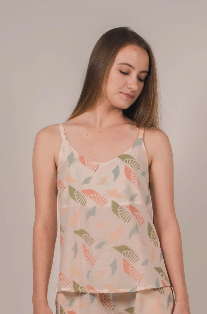 Eden Camisole in Spiral Blush