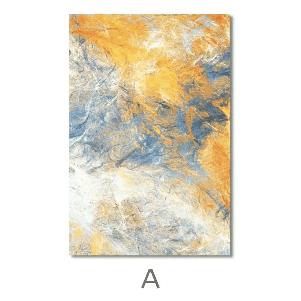 Abstract Blue Canvas Art A / 40 x 60cm / No Board - Canvas Print Only Clock Canvas