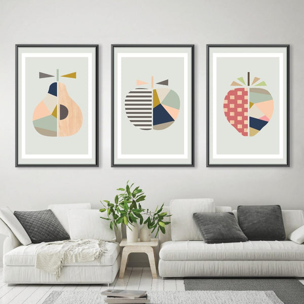 Abstract Fruits Canvas Art Clock Canvas