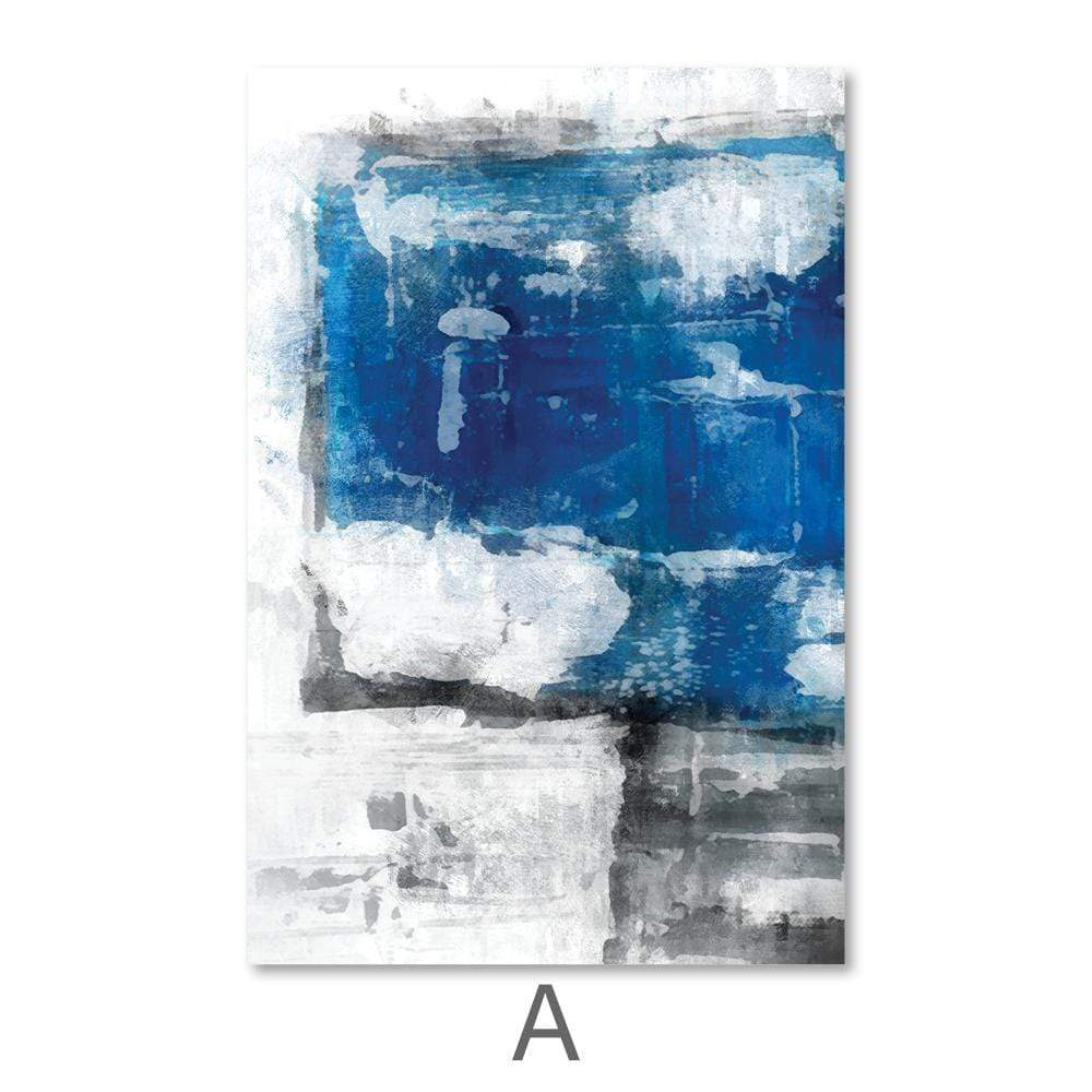 Abstract Iceberg Canvas Art A / 40 x 50cm / No Board - Canvas Print Only Clock Canvas