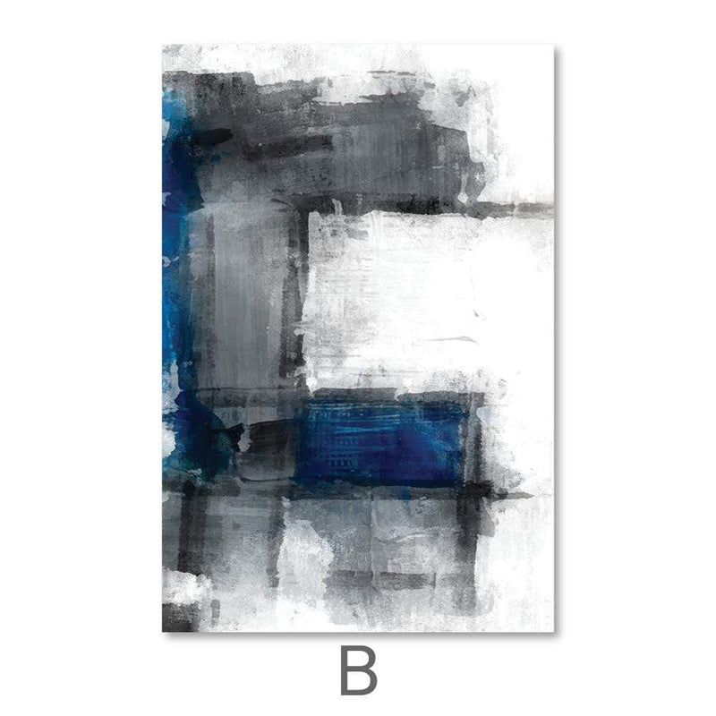 Abstract Iceberg Canvas Art B / 40 x 50cm / No Board - Canvas Print Only Clock Canvas