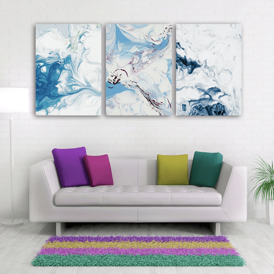Abstract Waters Canvas Art Clock Canvas