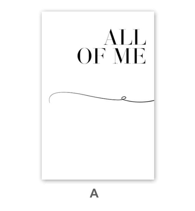 All of Me Canvas Art A / 40 x 50cm / No Board - Canvas Print Only Clock Canvas